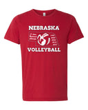 Women's Nebraska Volleyball 5-Time National Champions Premium Tri-Blend Tee Shirt