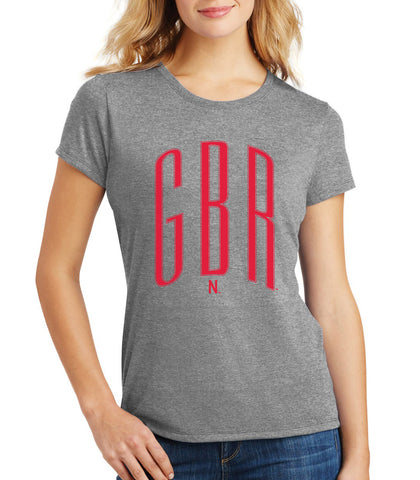 Women's Nebraska Huskers Premium Tri-Blend Tee Shirt - Red GBR