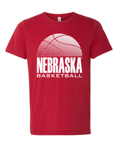 Women's Nebraska Huskers Premium Tri-Blend Tee Shirt - Nebraska Basketball
