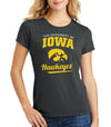 Women's Iowa Hawkeyes Premium Tri-Blend Tee Shirt - The University Of Iowa Script Hawkeyes