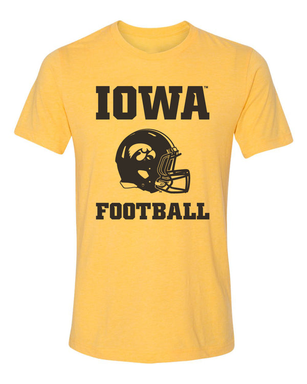 Women's Iowa Hawkeyes Premium Tri-Blend Tee Shirt - Iowa Football Helmet