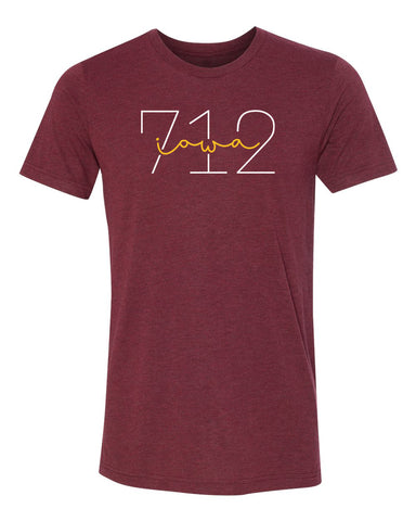 Women's Iowa State Cyclones Premium Tri-Blend Tee Shirt - 712 Area Code