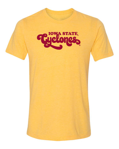 Women's Iowa State Cyclones Premium Tri-Blend Tee Shirt - Retro ISU Script Cyclones