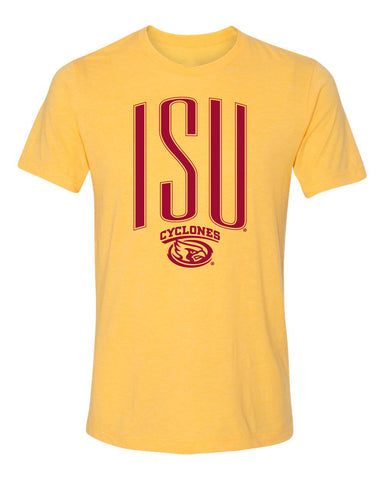 Women's Iowa State Cyclones Premium Tri-Blend Tee Shirt - Giant ISU with Cy Swirl
