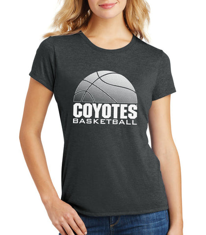 Women's South Dakota Coyotes Premium Tri-Blend Tee Shirt - Coyotes Basketball