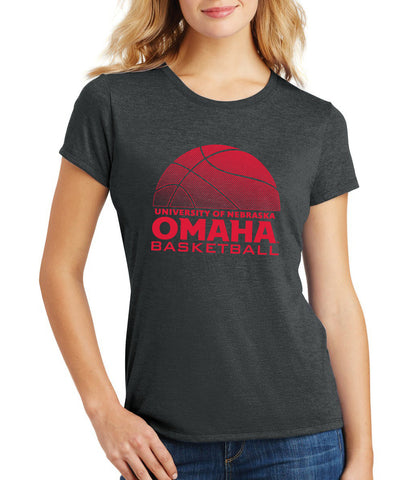 Women's Omaha Mavericks Premium Tri-Blend Tee Shirt - UNO Basketball