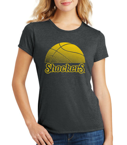 Women's Wichita State Shockers Premium Tri-Blend Tee Shirt - WSU Shockers Basketball