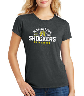 Women's Wichita State Shockers Premium Tri-Blend Tee Shirt - Arc Wichita State Shockers