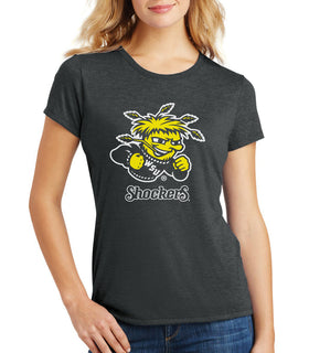Women's Wichita State Shockers Premium Tri-Blend Tee Shirt - Wu Shock Shockers