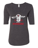 Women's 1995 Nebraska Huskers G.O.A.T. (Greatest of all Time) 1/2 Sleeve Scoop Neck Tri-Blend Premium Top