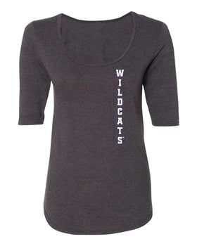 Women's K-State Wildcats Premium Tri-Blend Scoop Neck Tee Shirt - Vertical KSU Wildcats