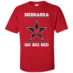 Nebraska Husker Tee Shirt - Star N GO BIG RED