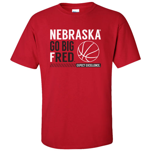 Nebraska Fred Hoiberg Tee Shirt - Husker Basketball - Red