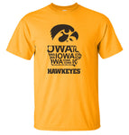 Iowa Tee Shirt - Iowa Hawkeye State Outline