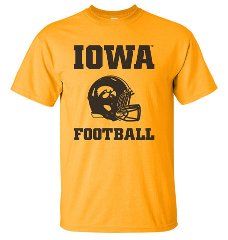 Iowa Hawkeyes Tee Shirt - Iowa Football Helmet