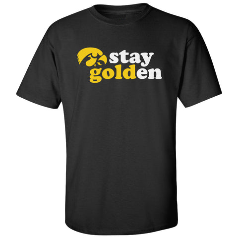 Iowa Hawkeyes Tee Shirt - Hawkeyes Stay Golden