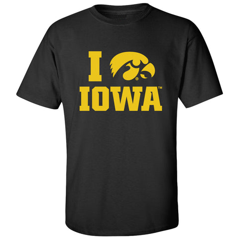 Iowa Hawkeyes Tee Shirt - I Love IOWA