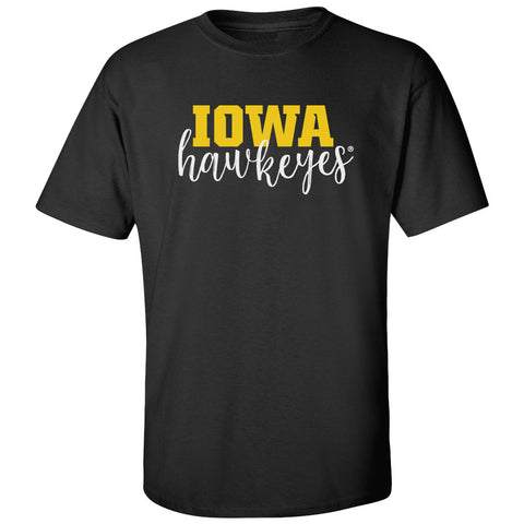 Iowa Hawkeyes Tee Shirt - Iowa Script Hawkeyes