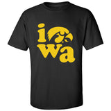 Iowa Hawkeyes Tee Shirt - Iowa Stacked
