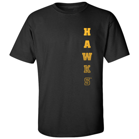 Iowa Hawkeyes Tee Shirt - Vertical Hawks Fade
