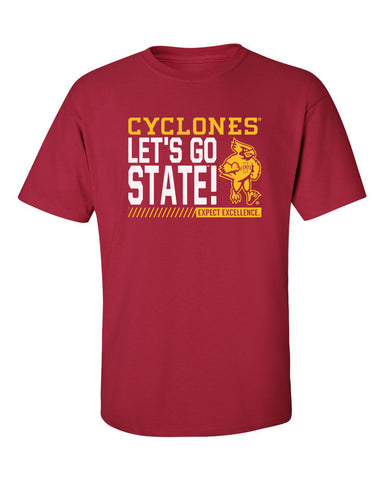 Iowa State Cyclones Tee Shirt - Let's Go State - Expect Excellence