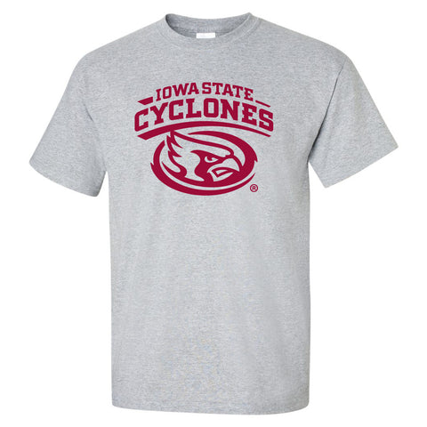 Iowa State Cyclones Tee Shirt - Cy The ISU Cyclones Mascot Swirl