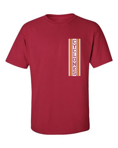 Iowa State Cyclones Tee Shirt - Vertical Stripe CYCLONES