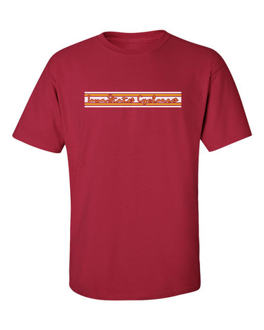 Iowa State Cyclones Tee Shirt - Horizontal Stripe Script Iowa State Cyclones