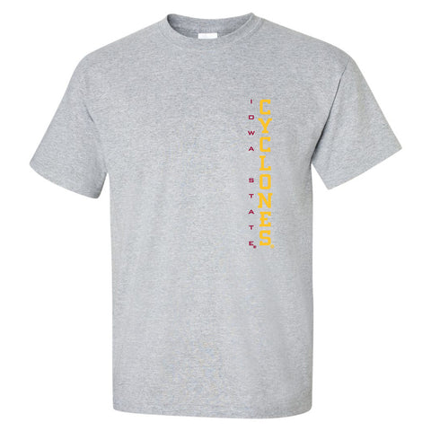 Iowa State Cyclones Tee Shirt - Vertical Iowa State CYCLONES