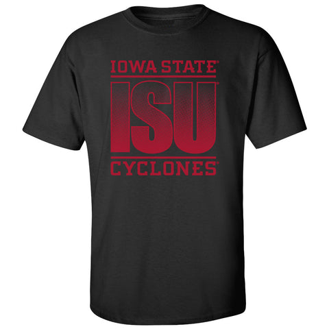Iowa State Cyclones Tee Shirt - ISU Fade Red on Black