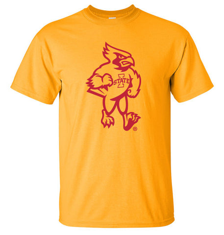 Iowa State Cyclones Tee Shirt - Mascot Cy Full Body