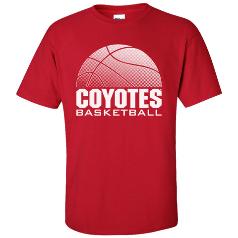 South Dakota Coyotes Tee Shirt - Coyotes Basketball