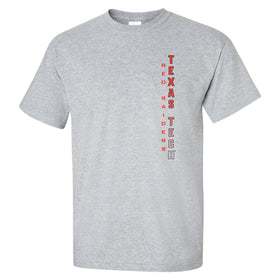 Texas Tech Red Raiders Tee Shirt - Vertical Texas Tech Fade