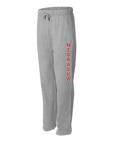 "Premium University of Nebraska Vertical ""NEBRASKA"" Sweatpants"