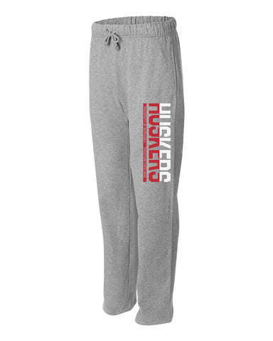 "Premium University of Nebraska ½ & ½ ""HUSKERS"" Sweatpants"
