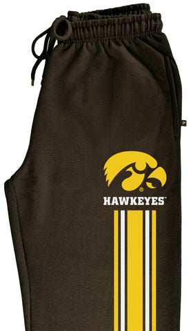 Iowa Hawkeyes Premium Sweatpants - IOWA Hawkeyes Vertical Stripe with Tigerhawk