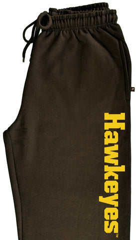 Iowa Hawkeyes Premium Fleece Sweatpants - Vertical Offset Hawkeyes