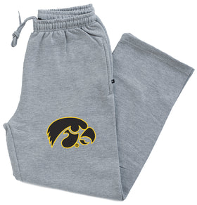 Iowa Hawkeyes Premium Fleece Sweatpants - Official 2-Color Tigerhawk Logo