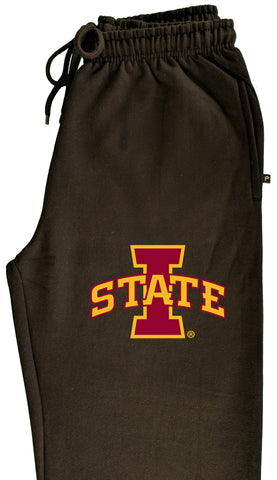 Iowa State Cyclones Premium Fleece Sweatpants - ISU I-STATE Logo