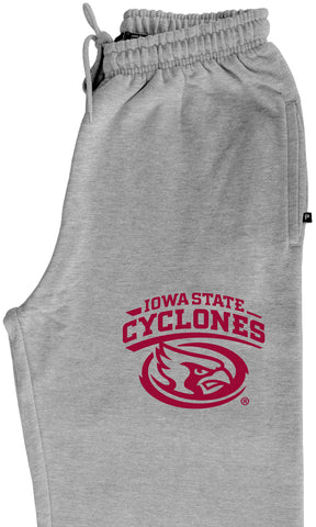 Iowa State Cyclones Premium Fleece Sweatpants - Cy The ISU Cyclones Mascot Swirl