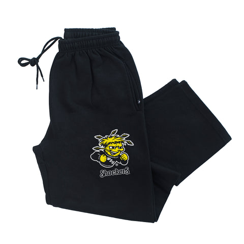 Wichita State Shockers Premium Fleece Sweatpants - Wu Shock Shockers