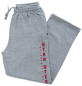 Utah Utes Premium Fleece Sweatpants - Vertical Utah Utes