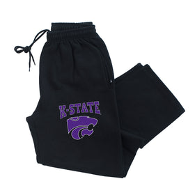 K-State Wildcats Premium Fleece Sweatpants - K-State Powercat with Outline