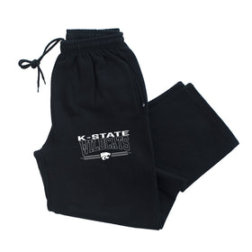 K-State Wildcats Premium Fleece Sweatpants - Wildcats with 3-Stripe Powercat
