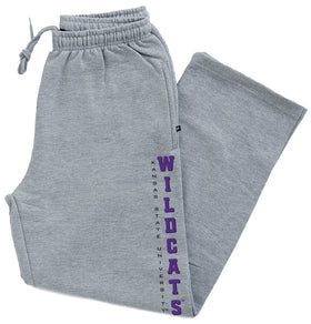 K-State Wildcats Premium Fleece Sweatpants - Vertical Kansas State Wildcats