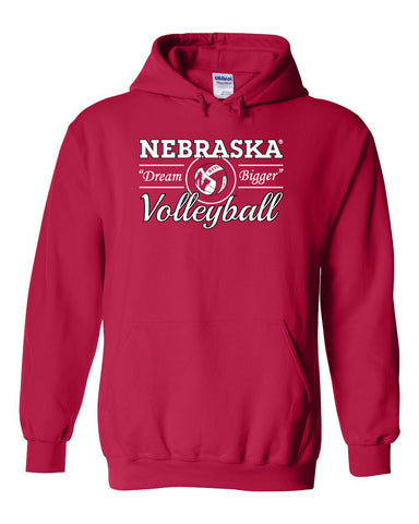 "Nebraska Huskers Volleyball ""Dream Bigger"" Hooded Sweatshirt"