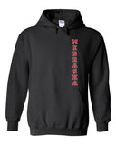 "Nebraska Cornhuskers Vertical ""NEBRASKA"" Hooded Sweatshirt"
