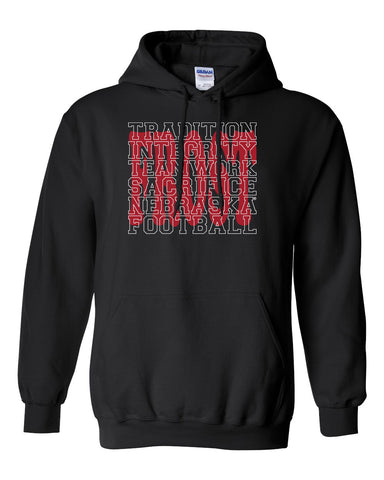 "Nebraska Football with ""FROST"" Background Hooded Sweatshirt"