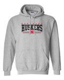 Nebraska Huskers Hooded Sweatshirt - Nebraska Huskers Stripe N