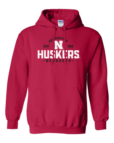 Nebraska Huskers Hooded Sweatshirt - University of Nebraska Huskers N